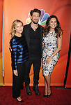 PASADENA, CA - JANUARY 16: (L-R) Actors Elisha Cuthbert, Nick Zano and Kelly Brook attend the NBCUniversal 2015 Press Tour at the Langham Huntington Hotel on January 15, 2015 in Pasadena, California.