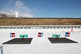 USA, Utah, Midway, Soldier Hollow, the biathlon shooting range and rifles