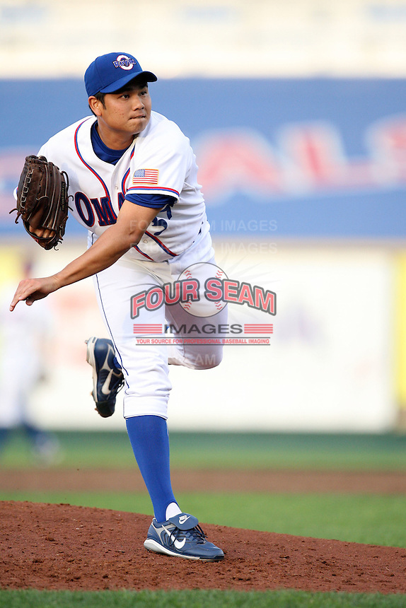 June 2, 2009: Bruce Chen (37) of the Omaha Royals at Rosenblatt Stadium in Omaha, NE.  Photo by: Chris Proctor/Four Seam Images
