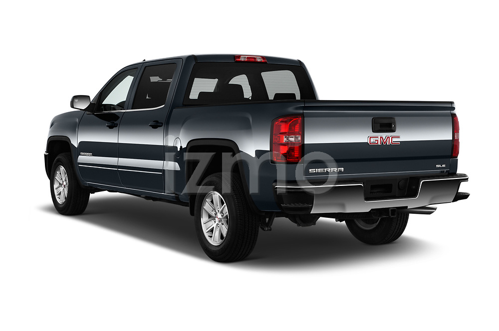 Car pictures of rear three quarter view of 2017 GMC Sierra-1500 Crew-SLE 4 Door Pickup Angular Rear