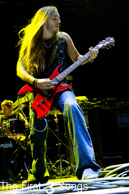 Guitarist Travis Stanley of Art of Dying performs during the Rock Vegas Music Festival at Mandalay Bay in Las Vegas, Nevada.