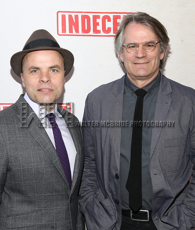 J.T. Rogers and Bartlett Sher attend the Broadway Opening Night Performance of  'Indecent' at The Cort Theatre on April 18, 2017 in New York City.