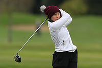 Katrina Jana Gustafssone (Latvia) on the 15th tee during Round 1 of the Irish Girls U18 Open Stroke Play Championship at Roganstown Golf &amp; Country Club, Dublin, Ireland. 05/04/19 <br /> Picture:  Thos Caffrey / www.golffile.ie