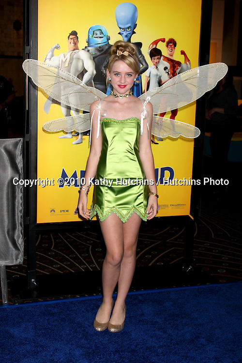"""LOS ANGELES - OCT 30:  Kathryn Newton arrives at the """"Megamind"""" LA Premiere & Halloween Extravaganza at Mann's Chinese Theater on October 30, 2010 in Los Angeles, CA"""