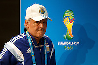 Argentina manager Alejandro Sabella during the press conference