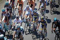 stage protagonists Mark Cavendish (GBR) &amp; Marcel Kittel (DEU) cosy in the peloton<br /> <br /> stage 10: Saint-Gildas-des-Bois to Saint-Malo<br /> 197km