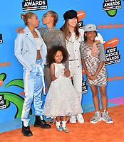 Mel B, Phoenix Gulzar, Angel Murphy Brown, Giselle Belafonte &amp; Madison Brown at Nickelodeon's 2018 Kids' Choice Awards at The Forum, Los Angeles, USA 24 March 2018<br /> Picture: Paul Smith/Featureflash/SilverHub 0208 004 5359 sales@silverhubmedia.com
