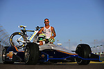 MIAMI, FL- DECEMBER 6:  IndyCar Driver Tony Kanaan of Brazil poses for a portrait during a LAVA Cover Photo Shoot on December 6, 2011in Miami, Florida. (Photo by Donald Miralle) *** Local Caption ***