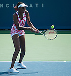Venus Williams (USA) plays at the Western and Southern Financial Group Masters Series in Cincinnati on August 15, 2012