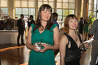 Amber Mullins and Lauren Banister attend CoachArt Children's Benefit at Terra Gallery on May 1, 2014. (Photo by Alex Shonkoff/Guest Of A Guest)