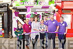 OFFICIAL OPENING: Mayor of Tralee Grace O'Donnell with Micheal Long proprietor of the Funky Cow at the official opening of store at Ashe Street, Tralee on Saturday l-r: Mike Keane, Roisin Browne, Seamus Murphy, Mayor of Tralee Grace O'Donnell, Aisling Keane, Tom Geaney, Micheal Long and Catherine Stack.
