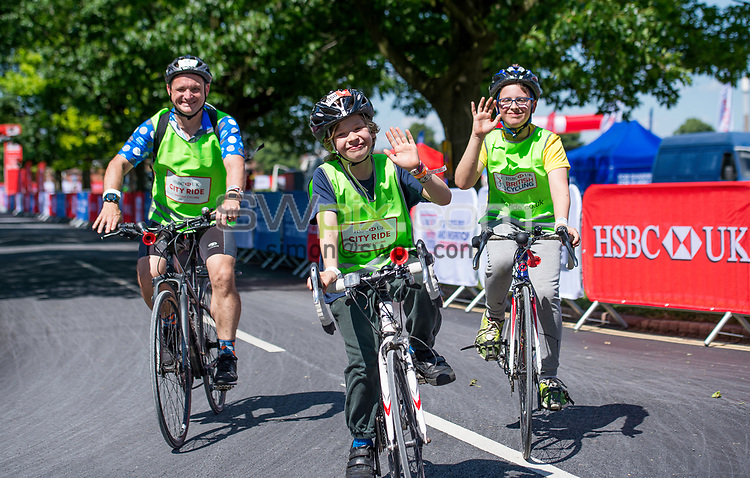 Picture by Allan McKenzie/SWpix.com - 18/06/2017 - Commercial - Cricket - British Cycling HSBC City Ride - Nottingham, England - Riders riding the route around Nottingham.