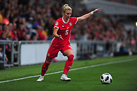 Rhiannon Roberts of Wales in action during the UEFA Womens Euro Qualifier match between Wales and Northern Ireland at Rodney Parade in Newport, Wales, UK. Tuesday 03, September 2019