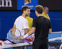 Andy Murray (GBR)<br /> <br /> Tennis - Australian Open 2015 - Grand Slam -  Melbourne Park - Melbourne - Victoria - Australia  - 26 January 2015. <br /> &copy; AMN IMAGES