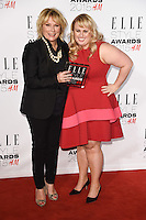 Jennifer Saunders and Rebel Wilson at the Elle Style Awards 2015 at Sky Bar, Walkie Talkie Building, London, 24/02/2015 Picture by: Steve Vas / Featureflash