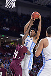 GREENVILLE, SC - MARCH 17: Isaiah Hicks (4) of the University of North Carolina puts up a shot over Marvin Jones (24) of Texas Southern University during the 2017 NCAA Men's Basketball Tournament held at Bon Secours Wellness Arena on March 17, 2017 in Greenville, South Carolina. (Photo by Grant Halverson/NCAA Photos via Getty Images)