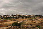 "Judea, Gush Etzion. A view of Alon Shvut from the ""Path of the Patriarchs"""