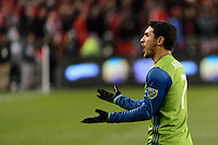 Toronto, ON, Canada - Saturday Dec. 10, 2016: Cristian Roldan during the MLS Cup finals at BMO Field. The Seattle Sounders FC defeated Toronto FC on penalty kicks after playing a scoreless game.