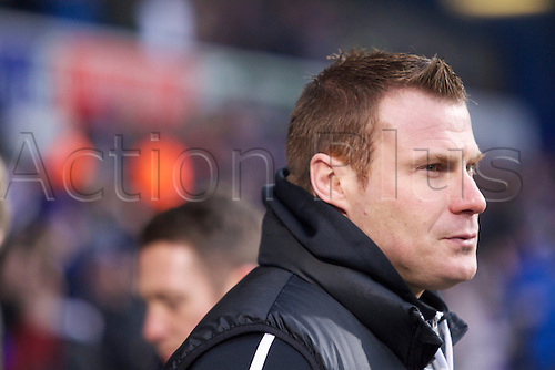 19.01.2013 Ipswich, England. David Flitcroft the new Barsnley Manager during the Championship game between Ipswich Town and Barnsley at Portman Road.
