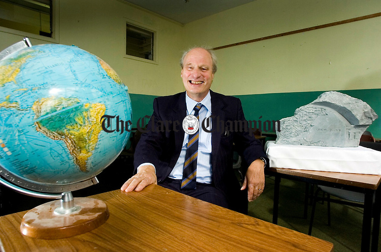Retired geography and german teacher Joe Heinrichs at St Josephs Secondary School Spanish Point.Pic Arthur Ellis.