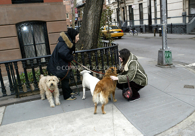 WWW.ACEPIXS.COM . . . . .***EXCLUSIVE!!! FEE MUST BE NEGOTIATED BEFORE USE!!!***....NEW YORK, MARCH 25, 2005....Liv Tyler strolls through the West Village stopping only to pet a pack of dogs and talk to their dog walker.....Please byline: Ian Wingfield - ACE PICTURES..... *** ***..Ace Pictures, Inc:  ..Craig Ashby (212) 243-8787..e-mail: picturedesk@acepixs.com..web: http://www.acepixs.com