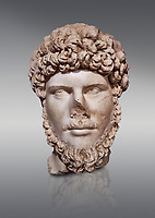 Roman statue of Emperor Lucius Verus .Marble. Perge. 2nd century AD. Inv no 2010/539 . Antalya Archaeology Museum; Turkey.