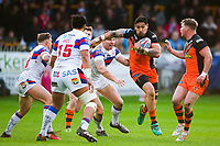Picture by Alex Whitehead/SWpix.com - 27/04/2018 - Rugby League - Betfred Super League - Castleford Tigers v Wakefield Trinity - Mend-A-Hose Jungle, Castleford, England - Castleford's Jesse Sene-Lefao in action.