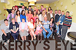 Debra Nammock, Kilflynn, pictured with family and friends as she celebrated her 21st birthday and also her going away party in The Brogue Inn, Tralee on Saturday night.............