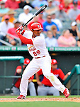 3 March 2011: St. Louis Cardinals' infielder Donovan Solano in action during a Spring Training game against the Washington Nationals at Roger Dean Stadium in Jupiter, Florida. The Cardinals defeated the Nationals 7-5 in Grapefruit League action. Mandatory Credit: Ed Wolfstein Photo
