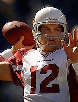 Sep 25, 2005; Seattle, WA, USA; Arizona Cardinals quarterback #12 Josh McCown warms up prior to the game against the Seattle Seahawks at Qwest Field. Mandatory Credit: Photo By Mark J. Rebilas