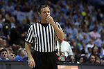 18 January 2015: Referee Joe Lindsay. The University of North Carolina Tar Heels played the Virginia Tech University Hokies in an NCAA Division I Men's basketball game at the Dean E. Smith Center in Chapel Hill, North Carolina. UNC won the game 68-53.