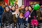Pictured at the Tralee Christmas Parade on Saturday were l-r: Carol Holden, JJ Dziedziech, Kelis Coffey, Alanna O'Driscoll, Catherine Holden, Brianna Coffey, Robbie O'Driscoll, Eileen O'Driscoll and Mary Anne Coffey.