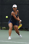 SAN DIEGO, CA - APRIL 25:  Catherine Isip of the Saint Marys Gaels during the WCC Tennis Championships at the Barnes Tennis Center on April 25, 2010 in San Diego, California.