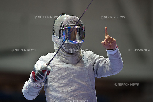 Tomohiro Shimamura (JPN), AUGUST 7, 2013 - Fencing : World Fencing Championships Budapest 2013, Men's Individual Sabre at Syma Hall in Budapest, Hungary. (Photo by Enrico Calderoni/AFLO SPORT) [0391]