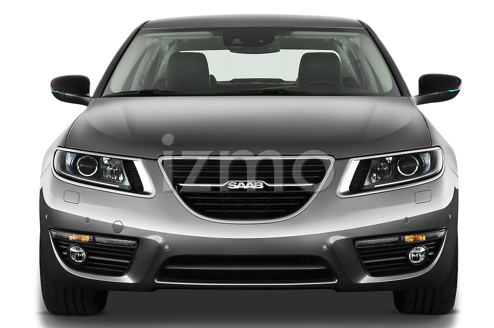 Straight front view of a 2011 Saab 95 Vector 4 Door Sedan