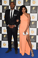 LONDON, UK. March 19, 2019: Osi Umenyiora arriving for the Royal Television Society Awards 2019 at the Grosvenor House Hotel, London.<br /> Picture: Steve Vas/Featureflash