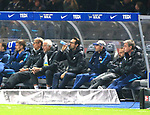 03.11.2018, OLympiastadion, Berlin, GER, DFL, 1.FBL, Hertha BSC VS. RB Leipzig, <br /> DFL  regulations prohibit any use of photographs as image sequences and/or quasi-video<br /> <br /> im Bild Spielerbank, Manager Michael Preetz (Hertha BSC Berlin)<br /> <br />       <br /> Foto © nordphoto / Engler