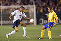 19 January 2008:  Ricardo Clark carries the ball during the United States National Team's game against Sweden at the Home Depot Center in Carson, California.  US defeated Sweden 2-0.