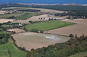 Aylmerton Village from above, Norfolk, UK