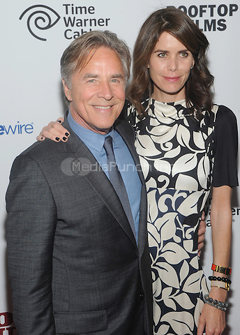 "New York, NY- May 21:Don Johnson and Kelley Phleger attend the Rooftop films ""Cold In July"" New York screening at IFC Theater on May 21, 2014 in New York City. Credit: John Palmer/MediaPunch"