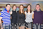Pictured at the Cube bar, Killarney on New Year's Eve were l-r: James O'Sullivan (Sneem) Aoife O'Sullivan (Kenmare) Deirdre Healy (Kenmare) Sarah Healy (Kenmare) and John Butler (Kenmare).