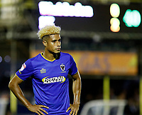 AFC Wimbledon's Lyle Taylor looks dejected during the Sky Bet League 1 match between AFC Wimbledon and MK Dons at the Cherry Red Records Stadium, Kingston, England on 22 September 2017. Photo by Carlton Myrie / PRiME Media Images.