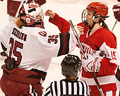 Molly Tissenbaum (Harvard - 35), Mary Parker (BU - 15) - The Harvard University Crimson tied the Boston University Terriers 6-6 on Monday, February 7, 2017, in the Beanpot consolation game at Matthews Arena in Boston, Massachusetts.