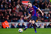 30th January 2019, Camp Nou, Barcelona, Spain; Copa del Rey football, quarter final, second leg, Barcelona versus Sevilla; Ivan Rakitic of FC Barcelona passes the ball through midfield