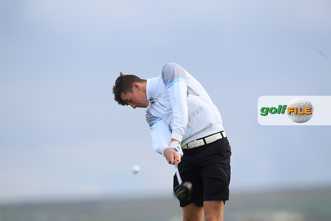 Jamie Fletcher (Warrenpoint) on the 2nd tee during Round 2 of the South of Ireland Amateur Open Championship at LaHinch Golf Club on Thursday 23rd July 2015.<br /> Picture:  Golffile | Thos Caffrey