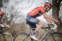 Antonio Nibali (ITA/Bahrain-Merida) riding a (Shimano race support) Pinarello bike<br /> <br /> 13th Strade Bianche 2019 (1.UWT)<br /> One day race from Siena to Siena (184km)<br /> <br /> ©kramon