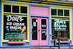Dad`s Ice Cream Parlour and Mom`s Buy & Sell, joint businesses in Lunenburg, Nova Scotia