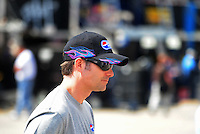 Apr 25, 2008; Talladega, AL, USA; NASCAR Sprint Cup Series driver Jeff Gordon during practice for the Aarons 499 at Talladega Superspeedway. Mandatory Credit: Mark J. Rebilas-US PRESSWIRE