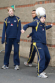 ? - Sweden's Under 20 team warmed up outside Mullins Center prior to their game versus UMass on Saturday, November 6, 2010, in Amherst, Massachusetts.