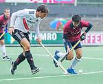AMSTELVEEN - tijdens de hoofdklasse competitiewedstrijd mannen, Amsterdam-HCKC (1-0).  COPYRIGHT KOEN SUYK
